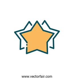 star favourite rating social media line and fill