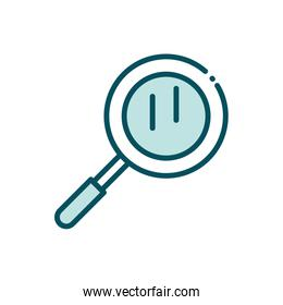 magnifier find search social media line and fill