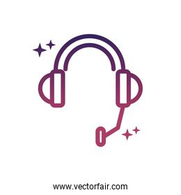 headset microphone sound social media gradient style icon
