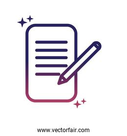 document pen writing social media gradient style icon