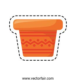 patch of pot plant decoration isolated icon