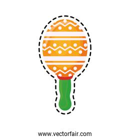 patch of maraca instrument mexican isolated