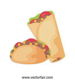 delicious food mexican isolated icon
