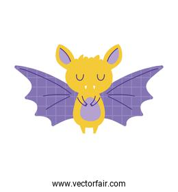 bat with grid wings animal cartoon doodle color