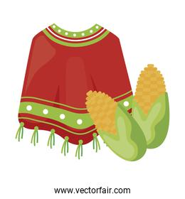 poncho clothes mexican with cob