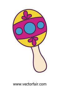 maracas instrument music mexican isolated icon