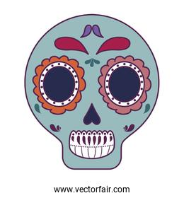 skull death icon traditional mexican