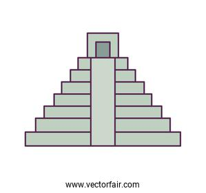 pyramid mexican structure isolated icon