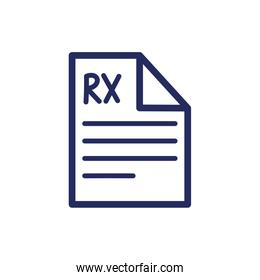 medical rx document flat style icon