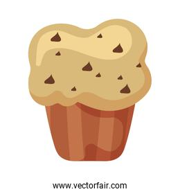 delicious and fresh cupcake in white background