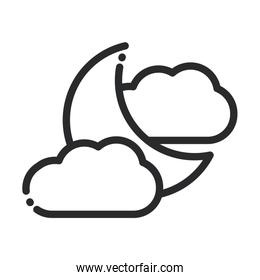 half moon clouds weather nightline style icon