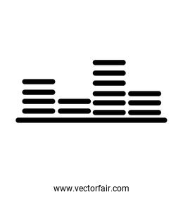 music equalizer graphic sound line style icon