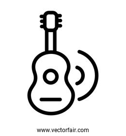 guitar music melody sound line style icon