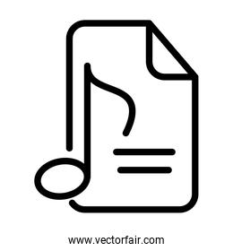 note music sheet sound line style icon