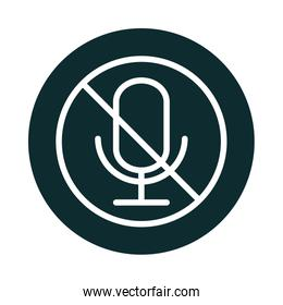 microphone audio muted sound block style icon