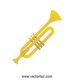trumpet wind musical instrument isolated icon