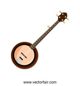 banjo string musical instrument isolated icon