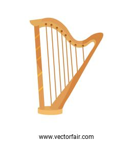 harp string musical instrument isolated icon