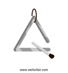 triangle and stick musical instrument isolated icon