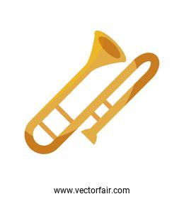 trombone wind musical instrument isolated icon
