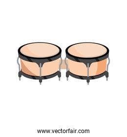 bongo drum percussion musical instrument isolated icon
