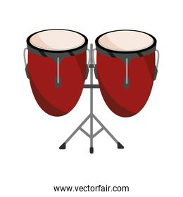 congas drums percussion musical instrument isolated icon