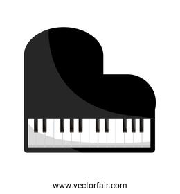 piano string and percussion musical instrument isolated icon