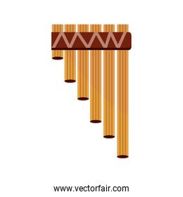 bamboo flute wind musical instrument isolated icon