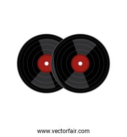 long play vinyl musical instrument isolated icon
