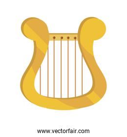 lyre string musical instrument isolated icon