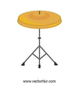 cymbals in tripod percussion musical instrument isolated icon