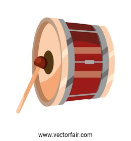 bass drum percussion musical instrument isolated icon