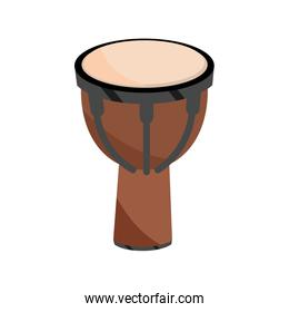 african djembe drum percussion musical instrument isolated icon