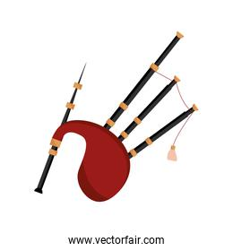 bagpipes wind musical instrument isolated icon