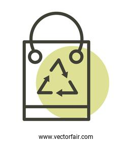 paper shopping bag alternative sustainable energy line style icon