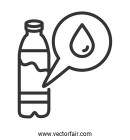 virus covid 19 pandemic water bottle line style icon