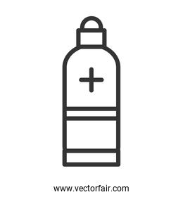 virus covid 19 pandemic alcohol medical product line style icon