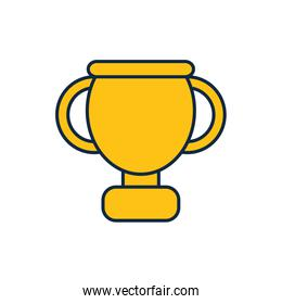 Isolated trophy line fill style icon vector design