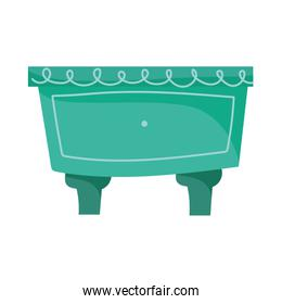 green drawer furniture living decoration isolated icon