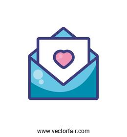 Love card with heart vector design