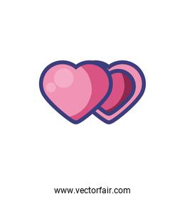 Isolated hearts icons vector design