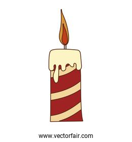 Isolated candle vector design