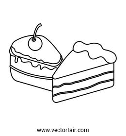 Isolated sweet cakes vector design