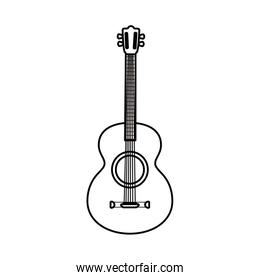 Isolated guitar instrument vector design