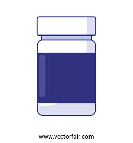 Isolated medicine jar of medical care concept vector design