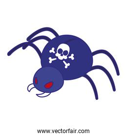 Spider and skull of security system vector design