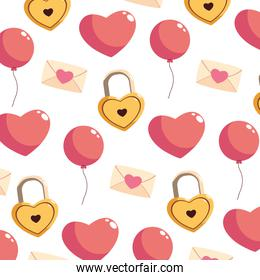 pattern with valentines day icons