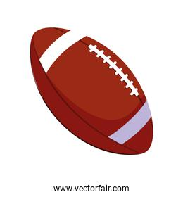 american football ball on white background