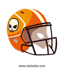 american football helmet on white background
