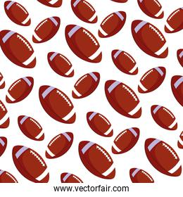 pattern of american football ball on white background
